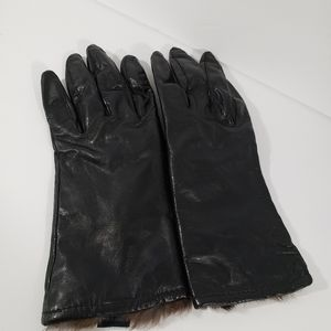 Foxfires Leather w/ Rabbit Fur Like Lined Gloves